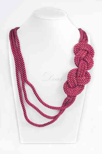 Collar cordon doble nudo